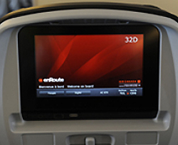 Air Canada Economy Class entertainment