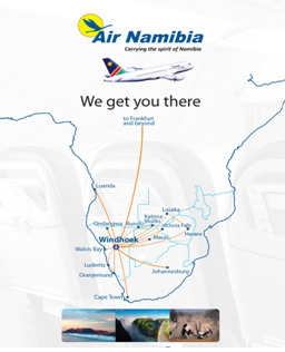 Air Namibia Route map